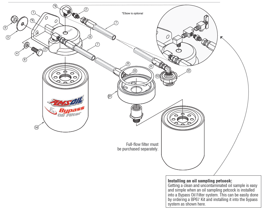 Duramax 6.6L Single-Remote Oil Bypass System