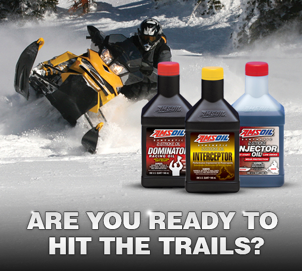Snowmobiles perform better with AMSOIL lubricants