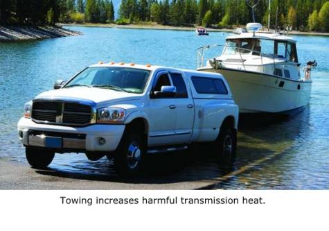 towing increases transmission heat