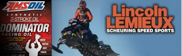 AMSOIL lubricants used in racing sleds