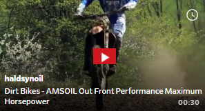 Click here to watch AMSOIL Synthetic Dirt Bike Oil Max Horsepower Video