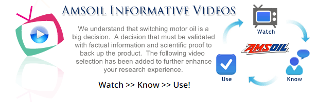 We understand that switching motor oil is a big decision. A decision that must be validated with factual information and scientific proof to back up the product. The following video section has been added to further enhance your research experience.